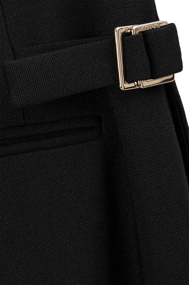 LOEWE Pleated trousers in wool and mohair Black pdp_rd
