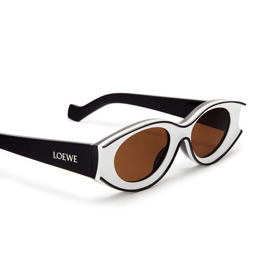 LOEWE Small Paula's Ibiza Sunglasses In Acetate White/Black front