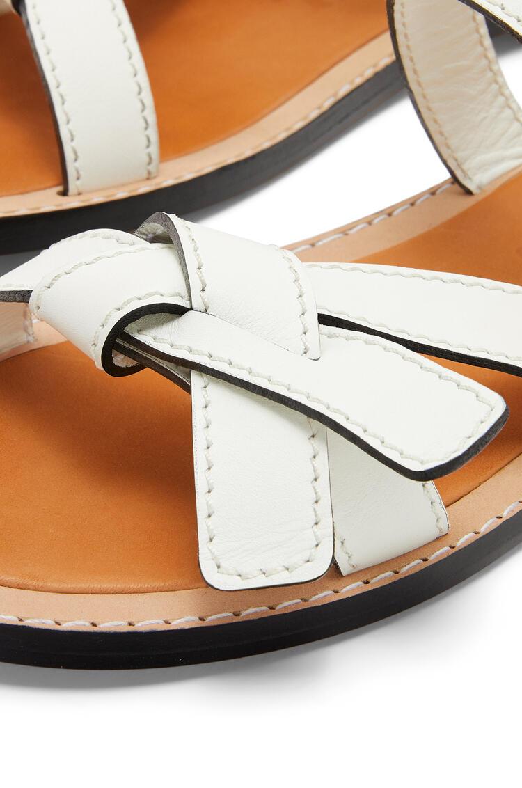 LOEWE Gate flat sandal in calfskin White pdp_rd