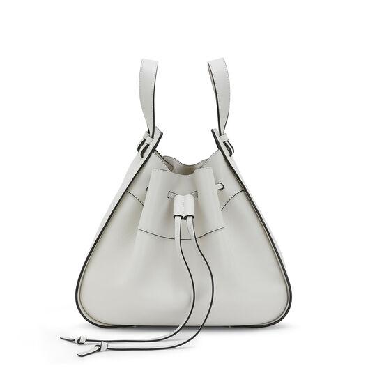 LOEWE Hammock Drawstring Medium Bag Soft White front