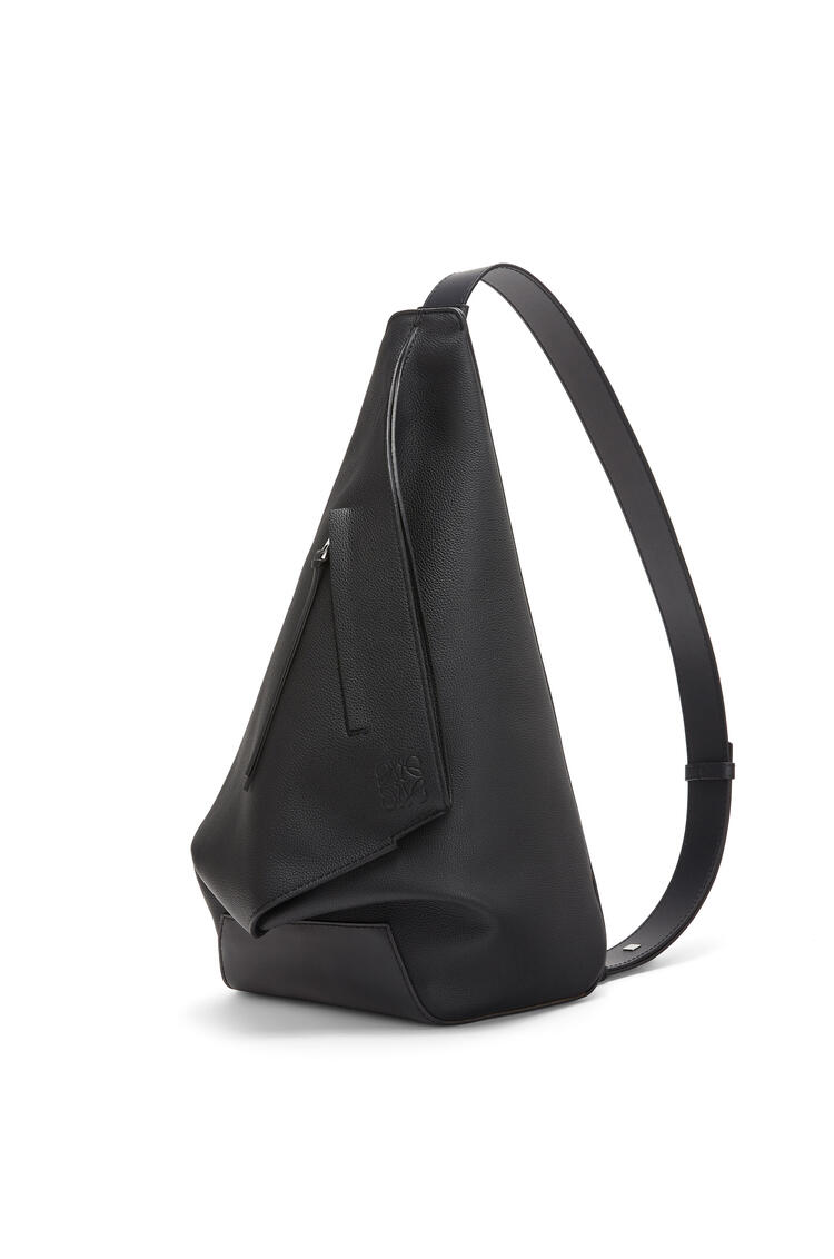LOEWE Small Anton backpack in soft grained calfskin Black pdp_rd