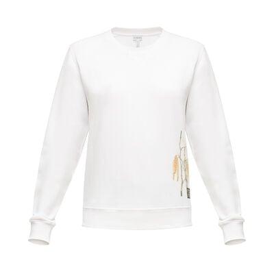 LOEWE Sweatshirt Botanical White front