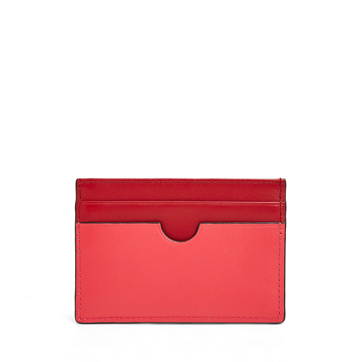 LOEWE Color Block Plain Cardholder Pomodoro/Poppy Pink front