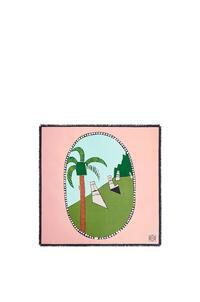 LOEWE Bufanda Easter Island en seda Menta/Multicolor pdp_rd