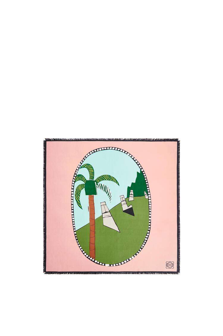 LOEWE 复活节岛真丝围巾 Mint/Multicolor pdp_rd