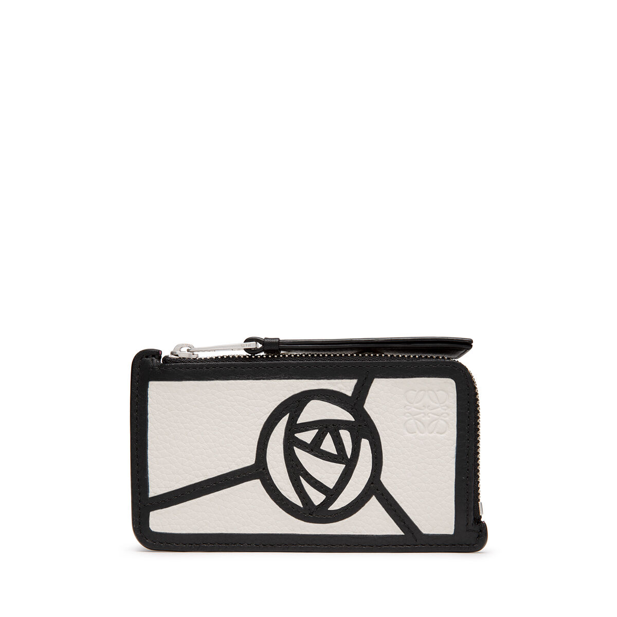 LOEWE Puzzle Coin/Card Holder Roses 白色/黑色 all