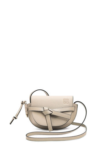 LOEWE Mini Gate bag in soft grained calfskin Light Oat pdp_rd
