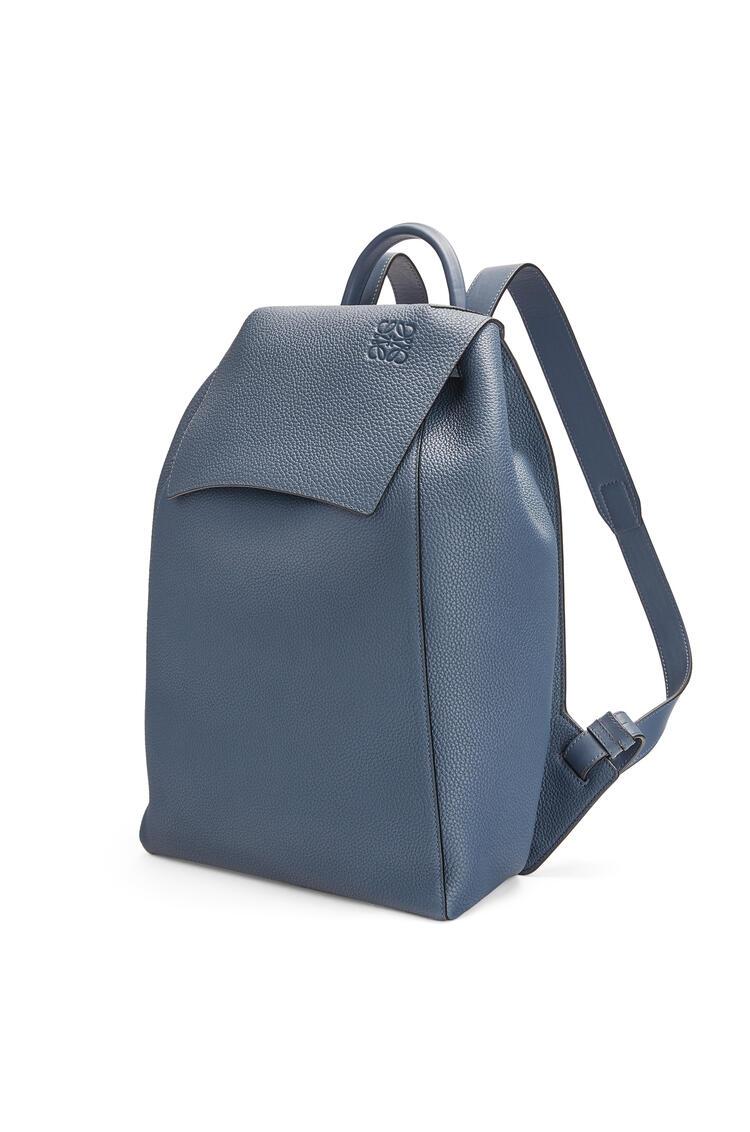 LOEWE Drawstring Backpack in grained calfskin Indigo Dye pdp_rd