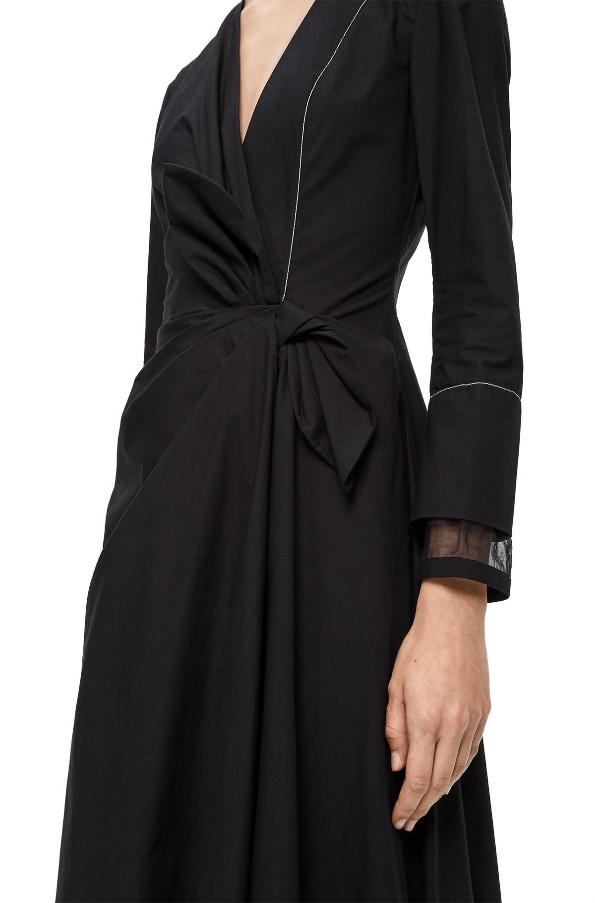 LOEWE Gathered Dress Black front