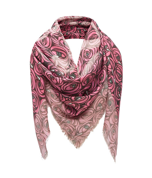 LOEWE 140X140 Scarf Roses All Over 粉色 all