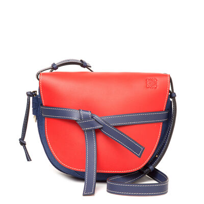 LOEWE Gate Bag Royal Blue/Primary Red/Midn Bl front