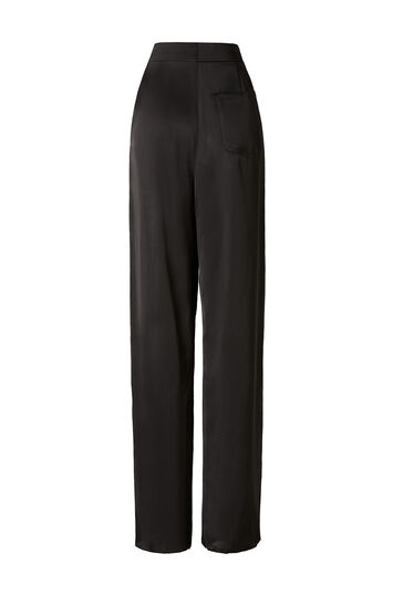 LOEWE Leather Detail Trousers Negro front