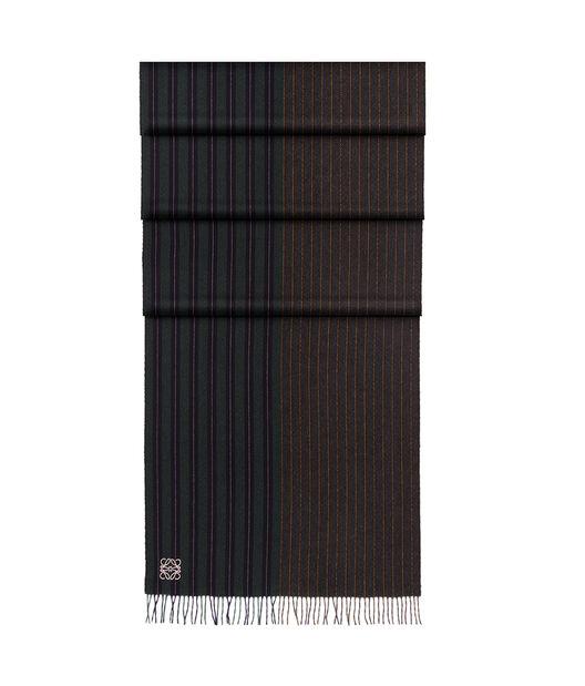 LOEWE 30X180 Scarf Varsity Stripes Dark Green/Navy all