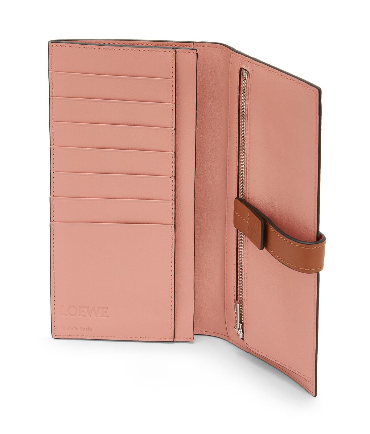 LOEWE Large Vertical Wallet Orange front