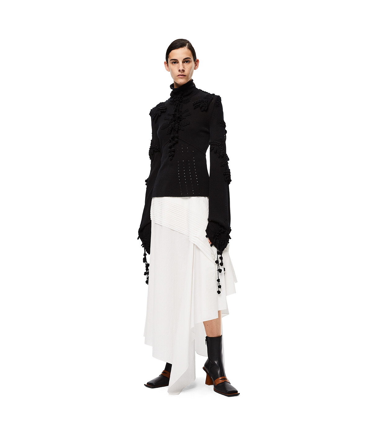 LOEWE Embroidered Sweater Black front