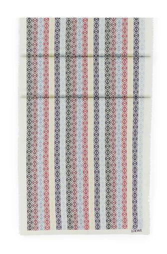 LOEWE 70X200 スカーフアナグラムINライン ブルー/レッド front