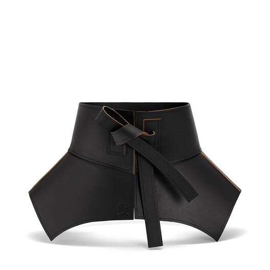 LOEWE Obi Belt Black/Brown front