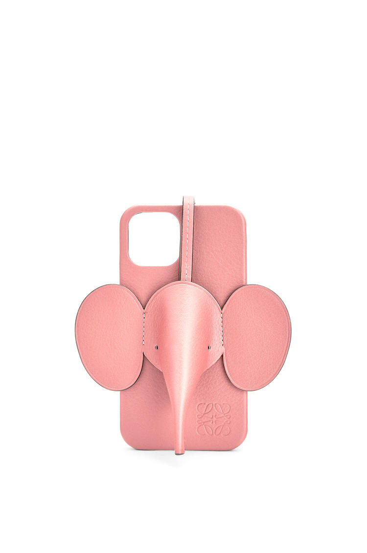 LOEWE Elephant phone cover in calfskin for iPhone 12 Pro Candy pdp_rd
