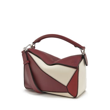 LOEWE Puzzle Small Bag Wine/Garnet front