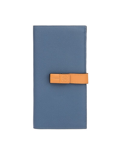LOEWE Large Vertical Wallet Varsity Blue/Honey front
