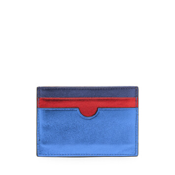 LOEWE Rainbow Plain Card Holder Metallic Multicolor front