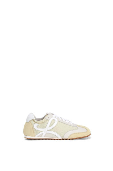 LOEWE Ballet runner in split calfskin and polyester Light Yellow pdp_rd