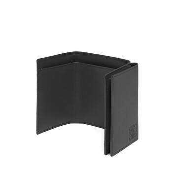 LOEWE Linen Trifold Wallet Black front