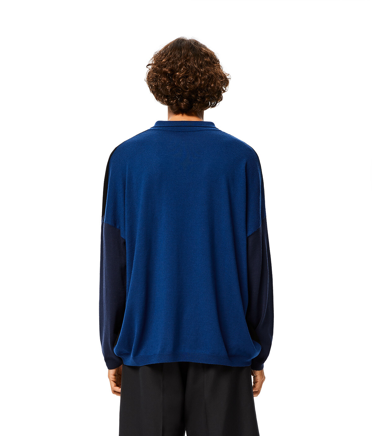 LOEWE Ov Poloneck Sweater 黑色/藍色 front