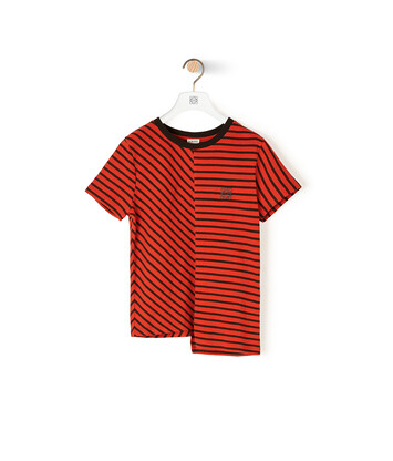 LOEWE Asymmetric Stripe T-Shirt Red/Black front