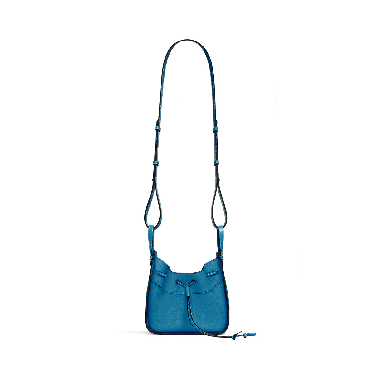 LOEWE Hammock Drawstring Mini Bag Dark Lagoon front