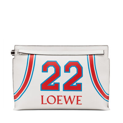 LOEWE T Pouch Loewe 22 Bag Soft White/Red front