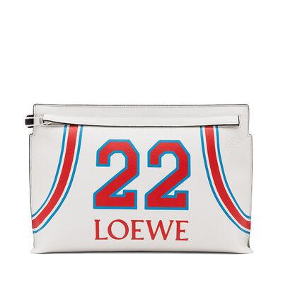 LOEWE T ポーチ ロエベ 22 バッグ ソフトホワイト/レッド front
