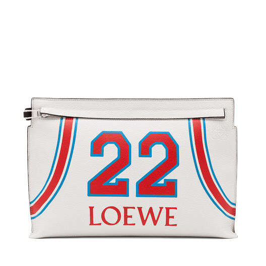 LOEWE T Pouch Loewe 22 Bag Soft White/Red all