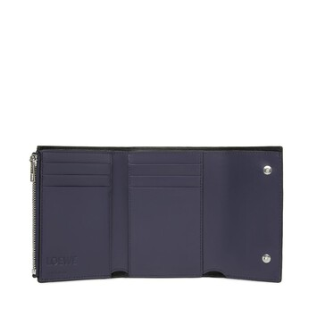 LOEWE Repeat Small Vertical Wallet Navy Blue front
