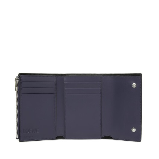 LOEWE Repeat Small Vertical Wallet 海军蓝 front