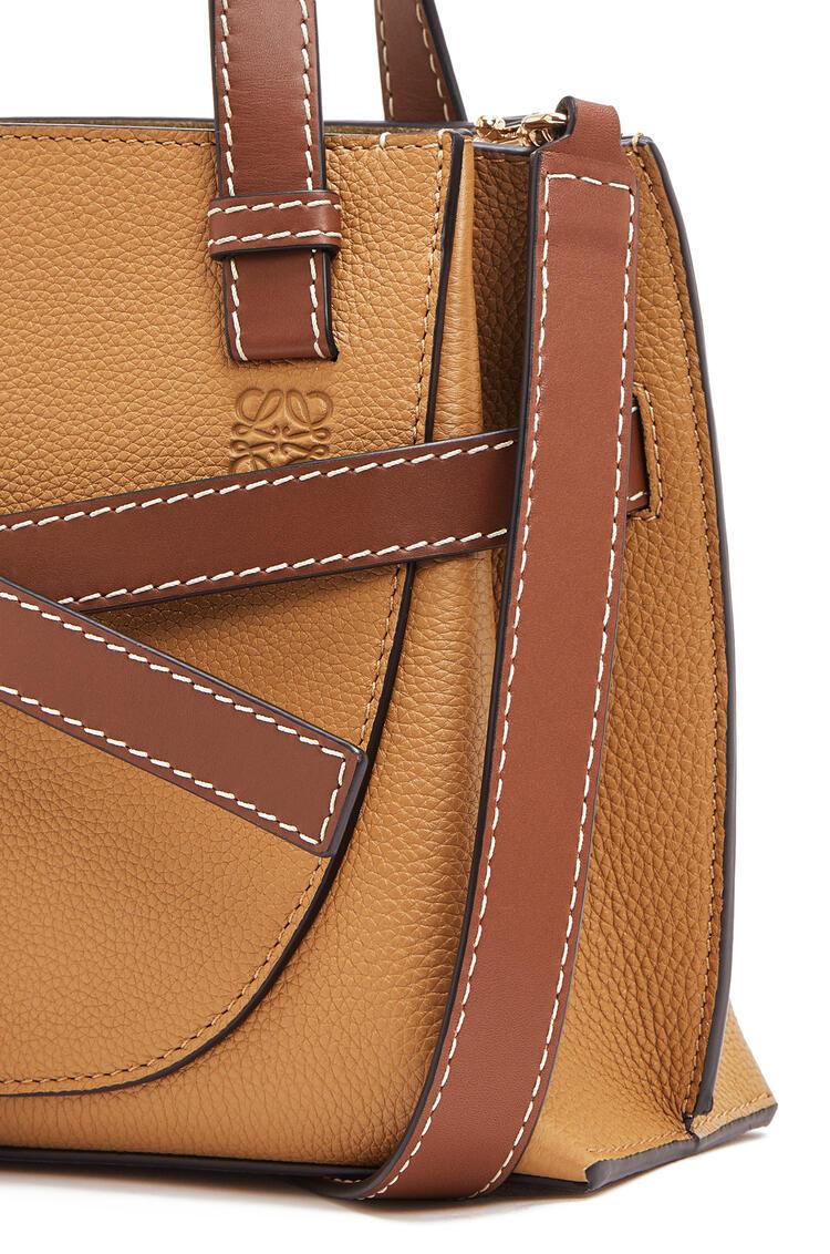 LOEWE Mini Gate Top Handle bag in soft grained calfskin Light Caramel pdp_rd
