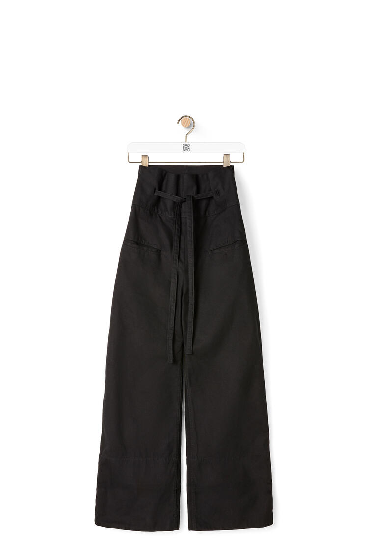 LOEWE Oversize turn up trousers in cotton Black pdp_rd