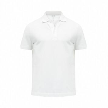 LOEWE Anagram Polo White Ash front