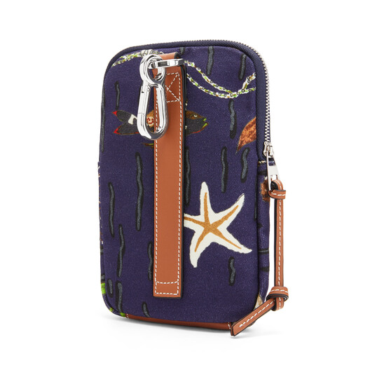 LOEWE Case In Mermaid Canvas Marine front