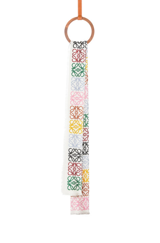 LOEWE 45X200 Scarf Anagram In Lines multicolor/white all