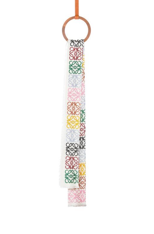 LOEWE 45X200 Scarf Anagram In Lines Multicolor/Blanco all