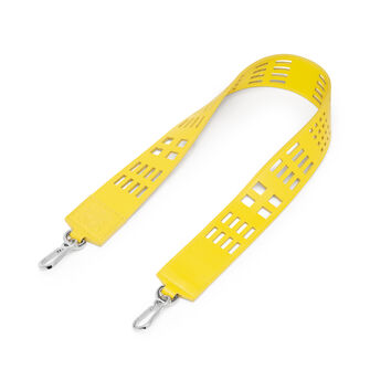 LOEWE Grid Wide Strap 黄色 front