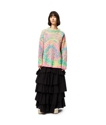 LOEWE Jacquard Tie Dye Sweater In Mohair Multicolor/Fucsia front