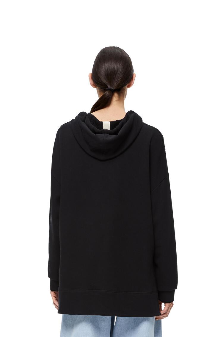 LOEWE Embroidered hoodie in cotton Black pdp_rd
