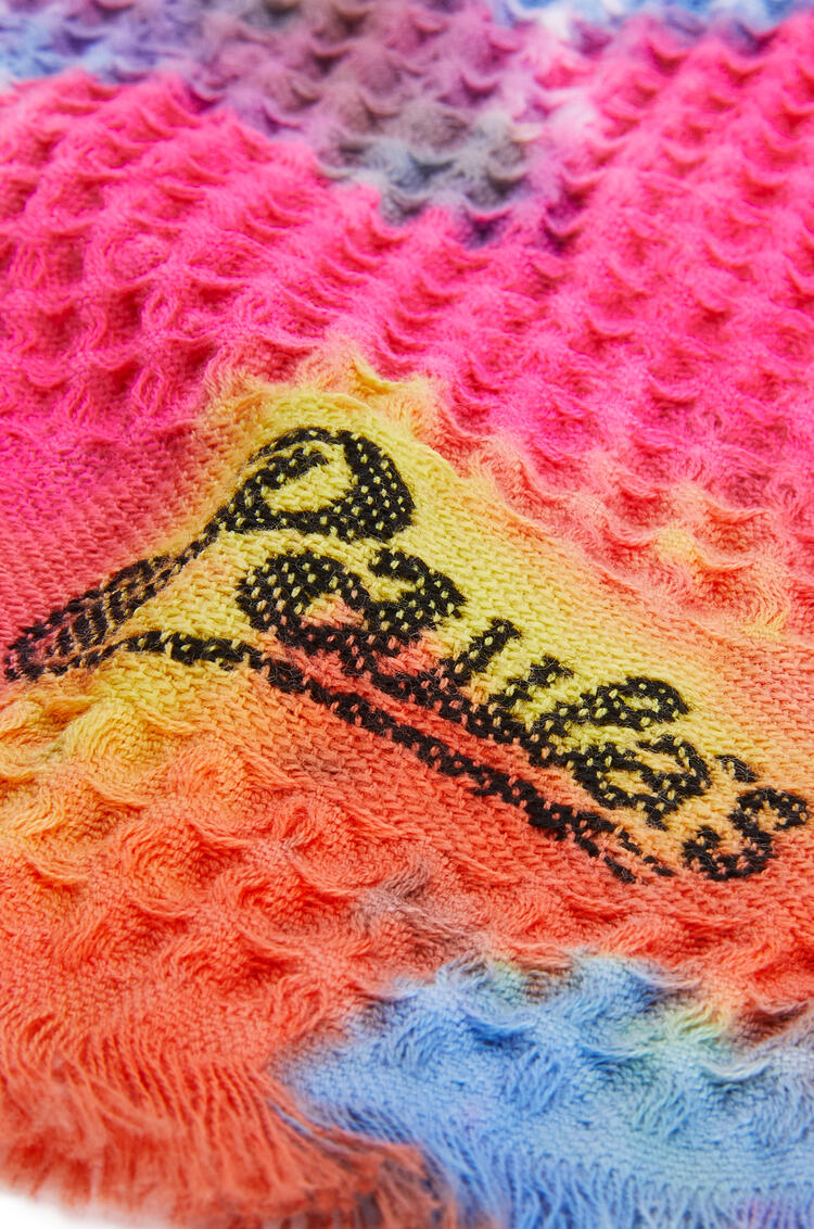 LOEWE 42cm x 92cm Waffle towel in tie dye cotton Multicolor pdp_rd