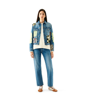LOEWE Patchwork Denim Jacket Azul/Multicolor front