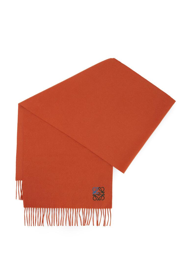LOEWE LOEWE Anagram scarf in cashmere Orange pdp_rd