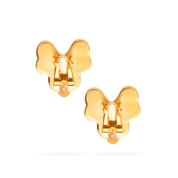 LOEWE Pansy Earrings Pink front