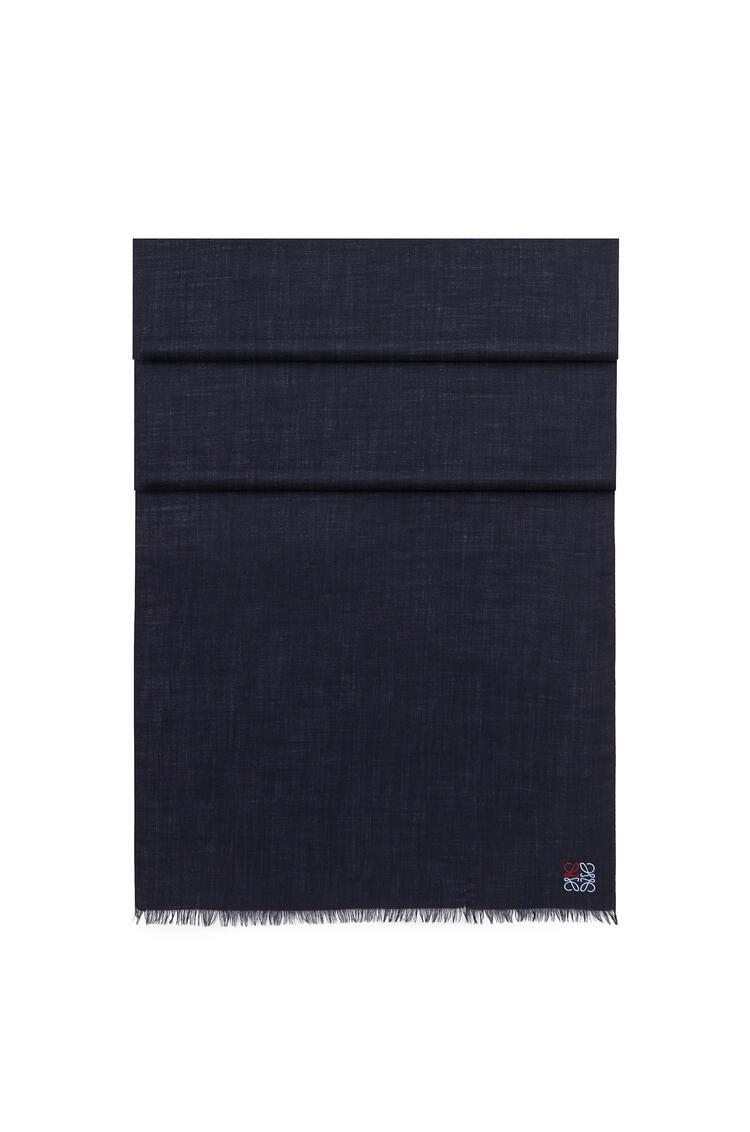 LOEWE Bufanda Anagrama de 70 x 200 cm en cashmere Marino pdp_rd