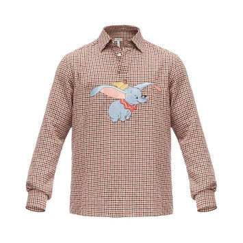 LOEWE Poloneck Shirt Dumbo Red/White front